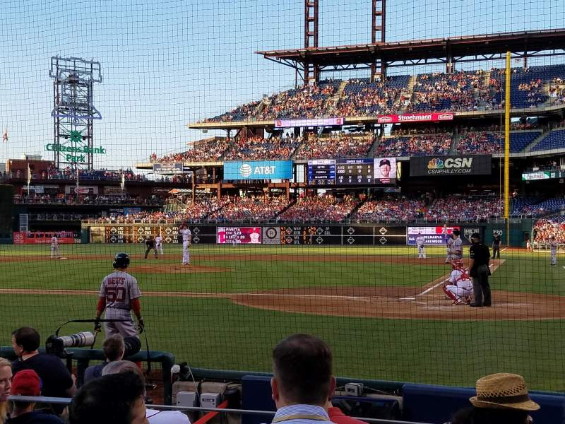 Seating view for Citizens Bank Park Section B Row 8 Seat 8