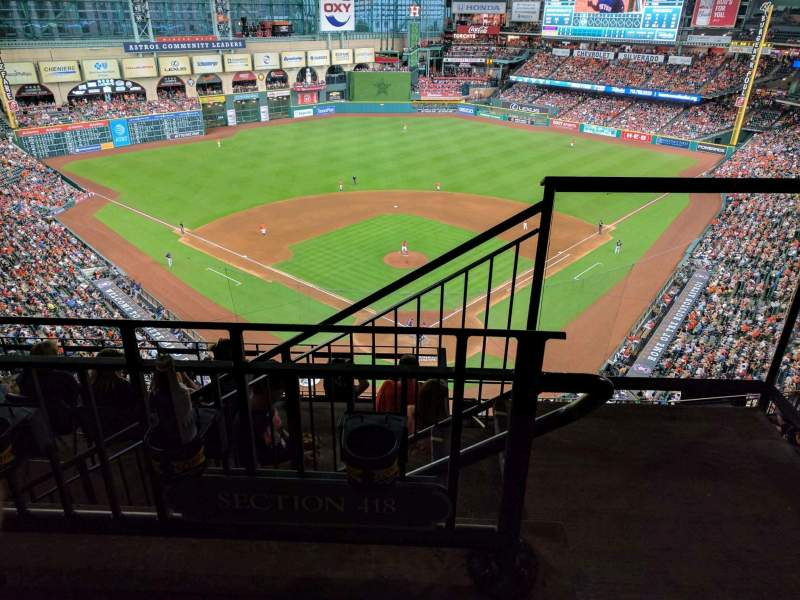 Seating view for Minute Maid Park Section 418 Row 1 Seat 19