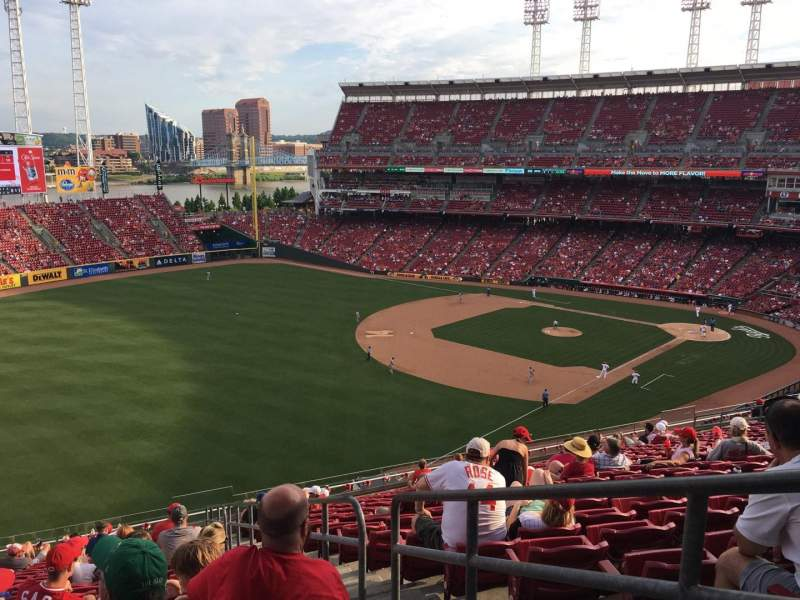 Seating view for Great American Ball Park Section 411 Row Q Seat 1
