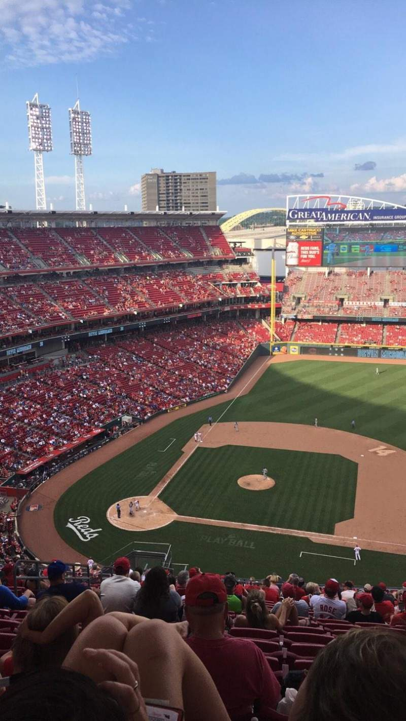 Seating view for Great American Ball Park Section 530 Row U Seat 14