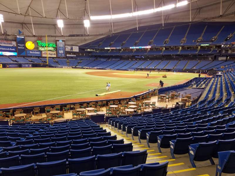 Seating view for Tropicana Field Section 135 Row Y Seat 12