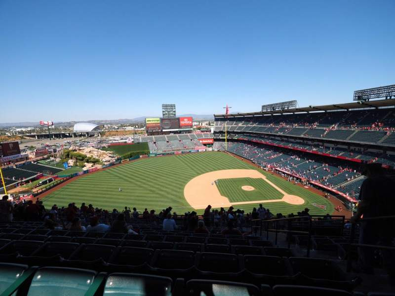 Seating view for Angel Stadium Section V512 Row L Seat 25