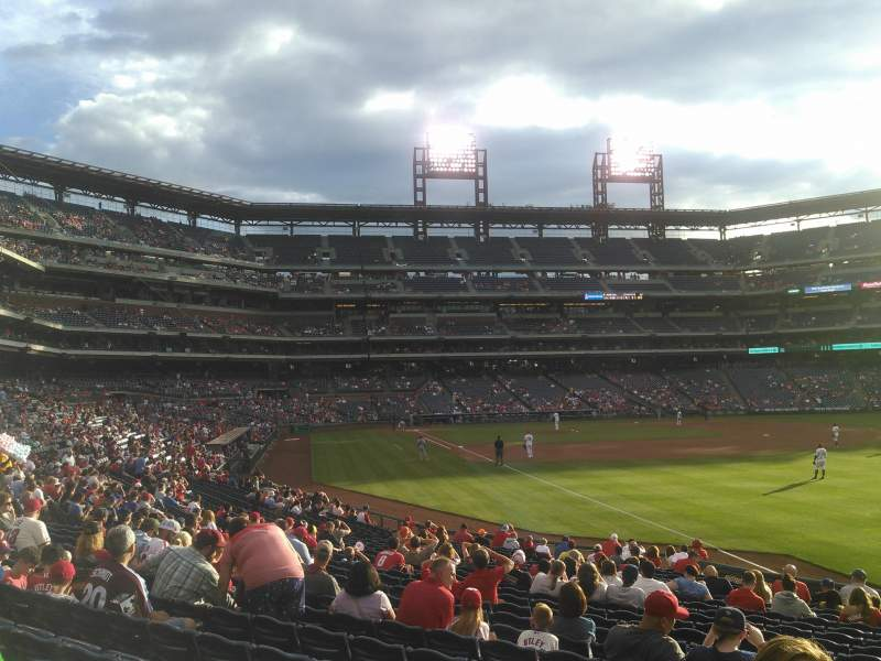 Seating view for Citizens Bank Park Section 109 Row 23 Seat 2