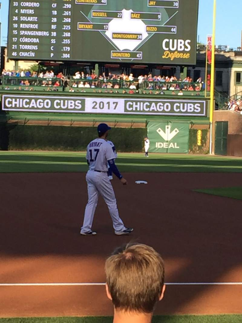 Seating view for Wrigley Field Section 10 Row 5 Seat 7