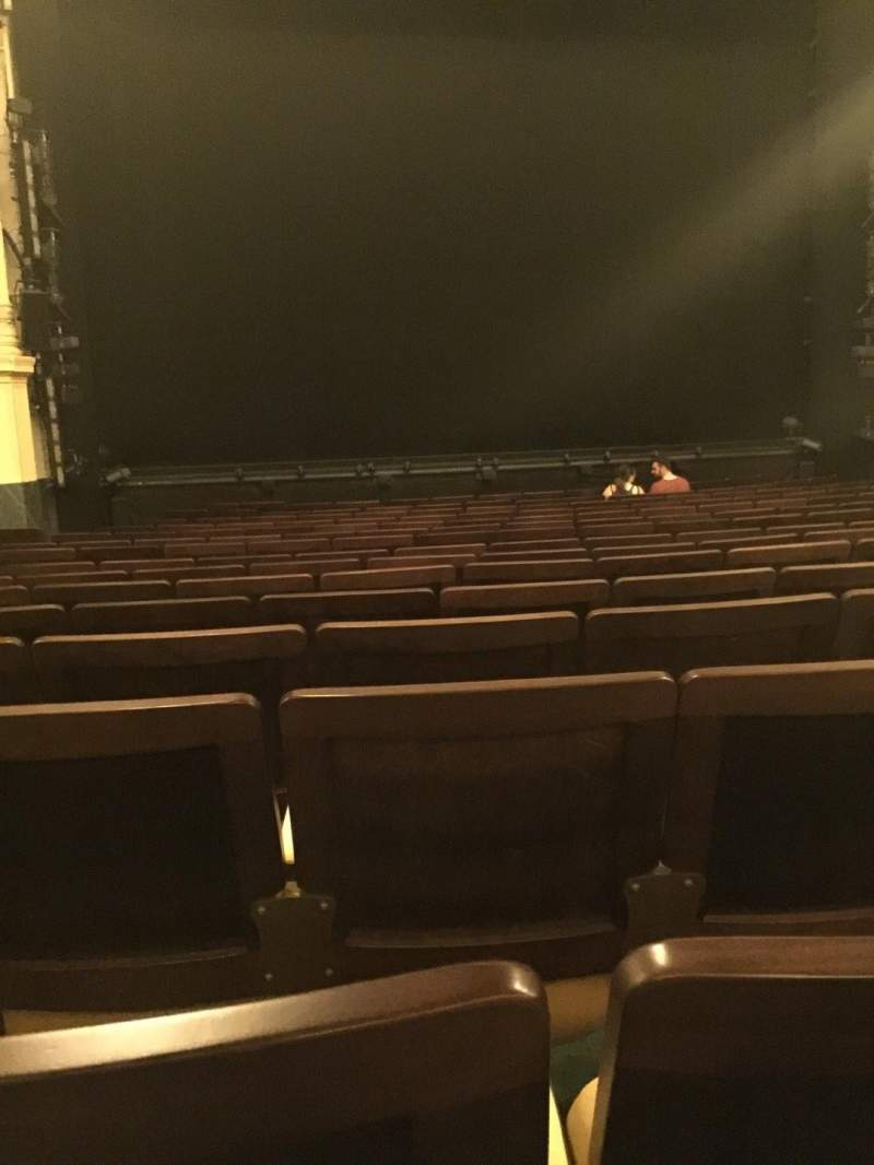Seating view for Hudson Theatre Section Orchestra C Row P Seat 103