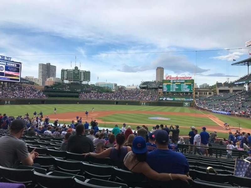 Seating view for Wrigley Field Section 116 Row 14 Seat 1,2,3,4,5,