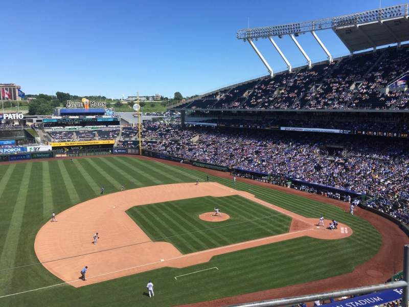 Seating view for Kauffman Stadium Section 409 Row C Seat 12