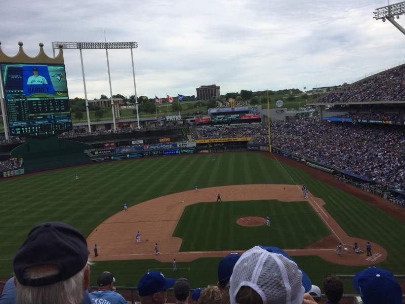 Seating view for Kauffman Stadium Section 412 Row F Seat 11