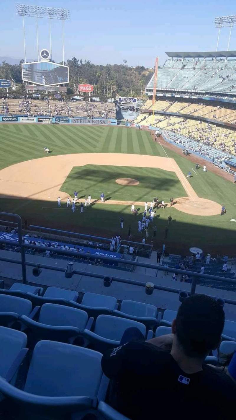 Seating view for Dodger Stadium Section 11RS Row E Seat 16
