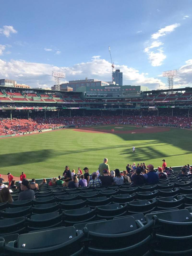 Seating view for Fenway Park Section Bleacher 36 Row 25 Seat 8