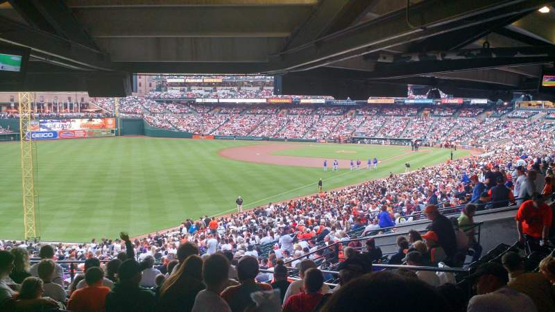 Seating view for Oriole Park at Camden Yards Section 73 Row 13 Seat 3