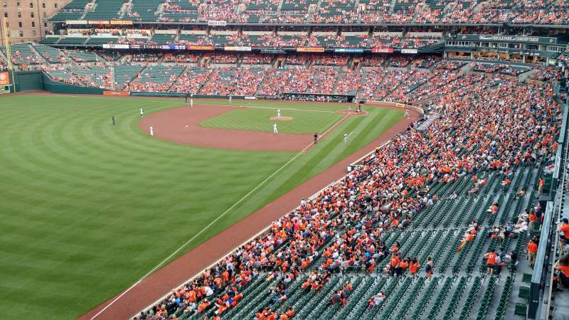 Seating view for Oriole Park at Camden Yards Section 376 Row 1 Seat 1