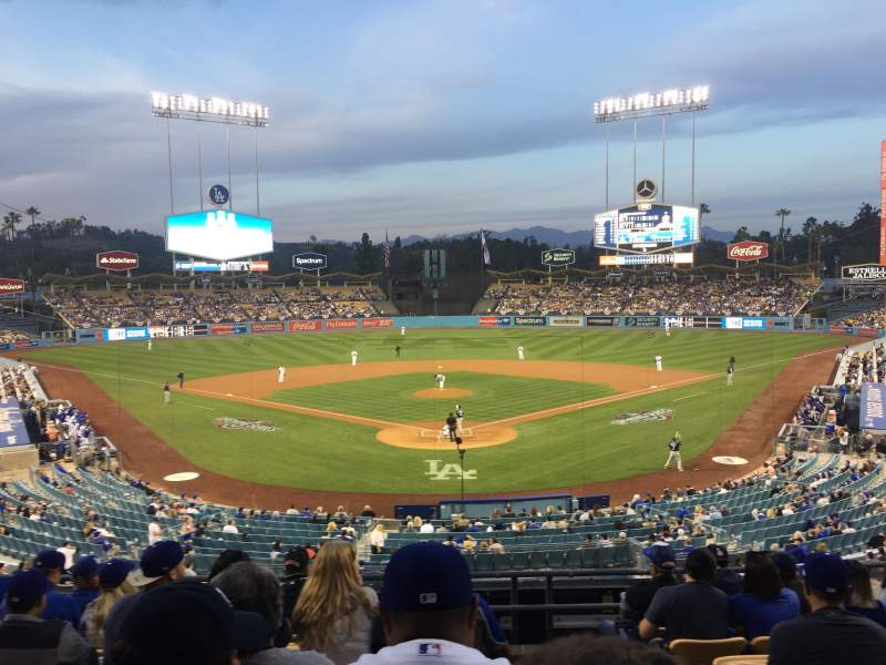 Seating view for Dodger Stadium Section 101LG Row H Seat 1