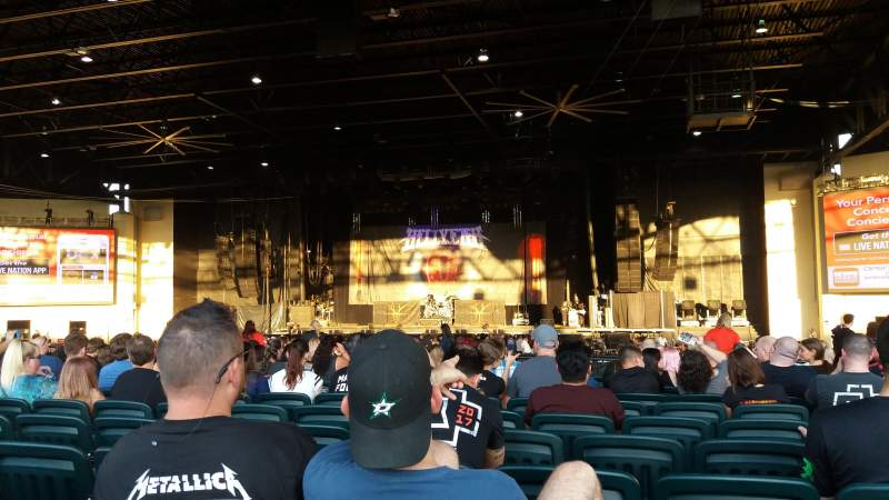 Seating view for Dos Equis Pavilion Section 202 Row V Seat 13