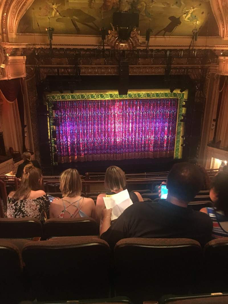 Seating view for Hippodrome Theatre Section Center Middle Balcony Row L Seat 102