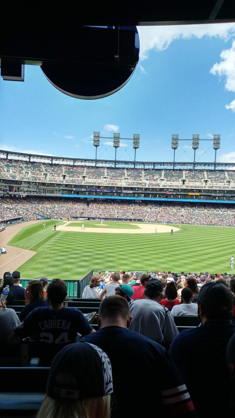 Seating view for Comerica Park Section 106 Row FF Seat 10