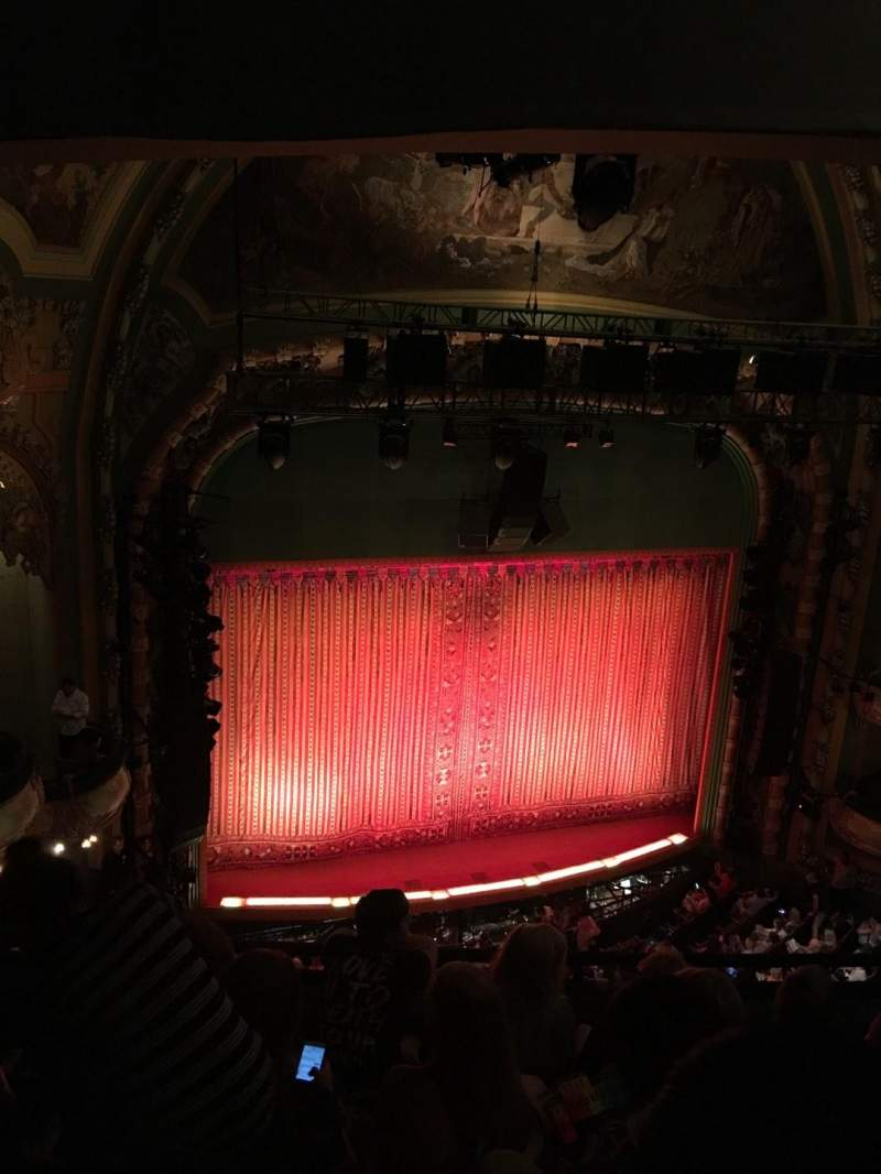Seating view for New Amsterdam Theatre Section Balcony L Row E Seat 15