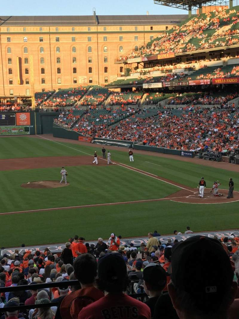 Seating view for Oriole Park at Camden Yards Section 49 Row 6 Seat 22