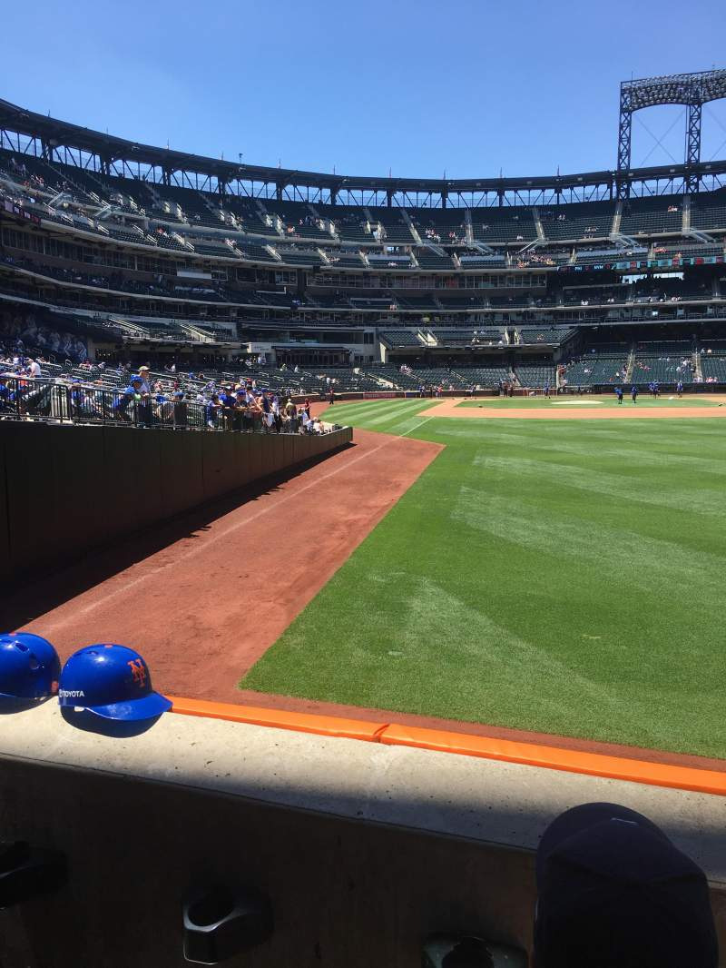 Citi Field, section: 103, row: 2, seat: 13
