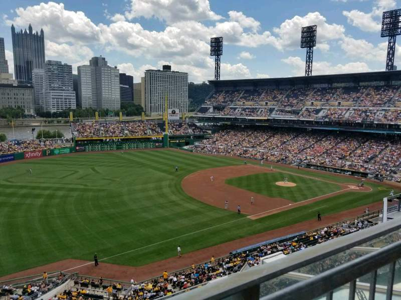 Seating view for PNC Park Section 329 Row A Seat 15