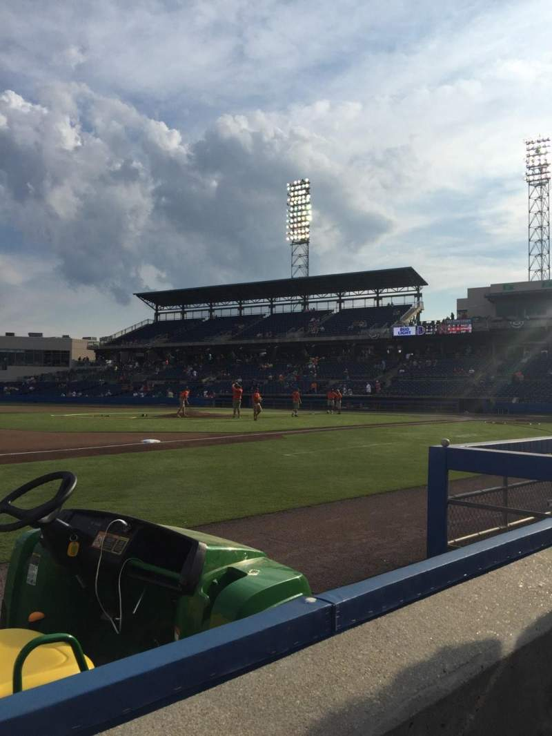 Seating view for Harbor Park Section 113 Row A Seat 7