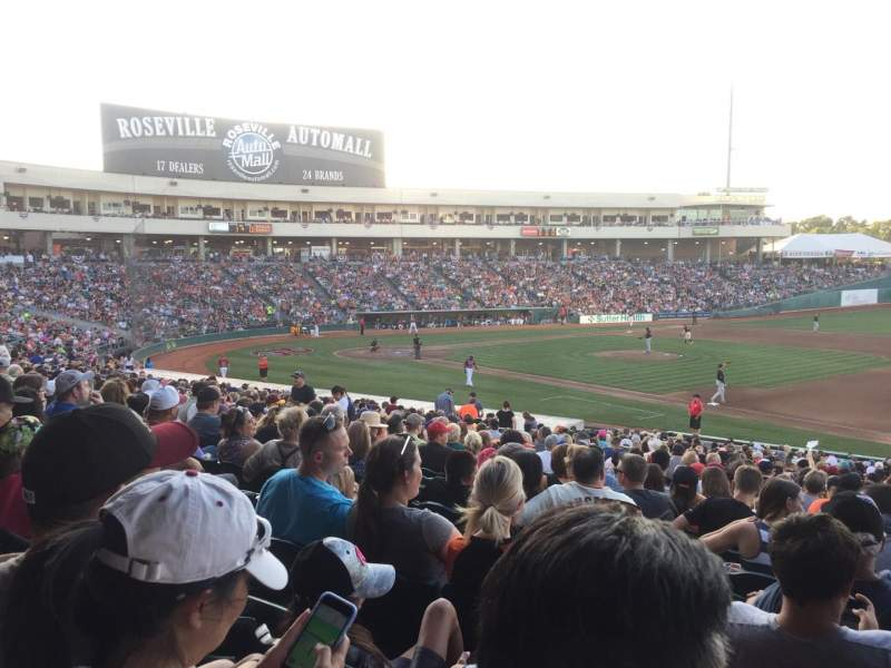 Seating view for Raley Field Section 103 Row 28 Seat 1