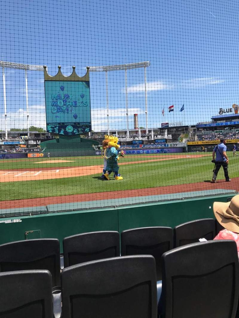 Seating view for Kauffman Stadium Section Crown 4 Row 4 Seat 3