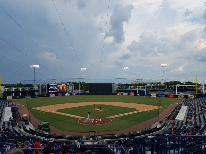 Seating view for George M. Steinbrenner Field Section 211 Row J Seat 5