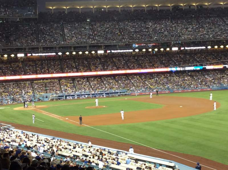 Seating view for Dodger Stadium Section 160LG Row P Seat 17