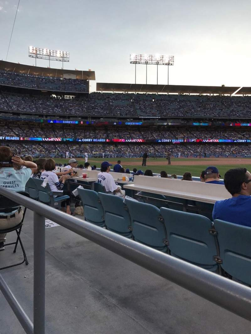 Seating view for Dodger Stadium Section 38FD Row A Seat 8