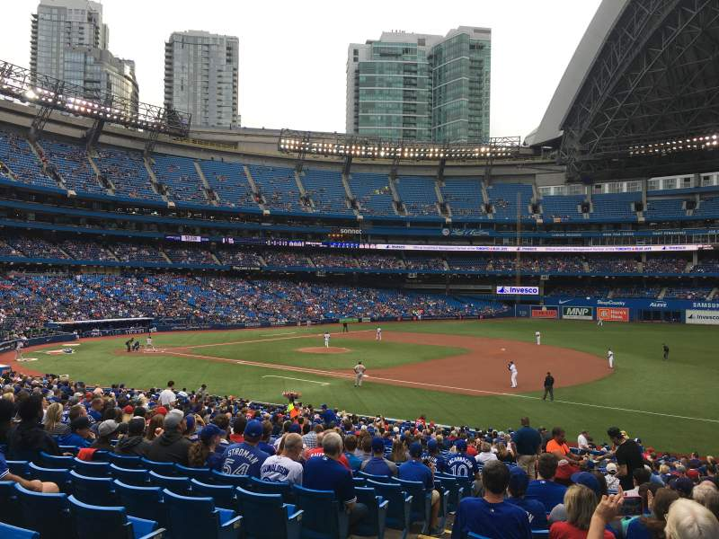 Rogers Centre, section: 114R, row: 34, seat: 3