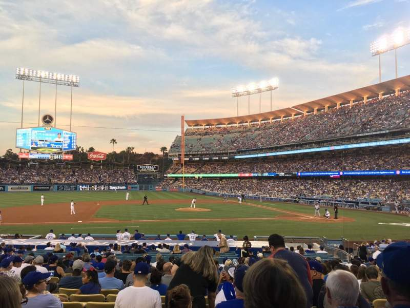 Seating view for Dodger Stadium Section 19FD Row S Seat 4