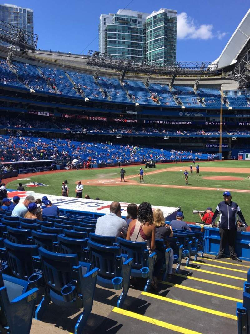 Seating view for Rogers Centre Section 116R Row 17 Seat 1