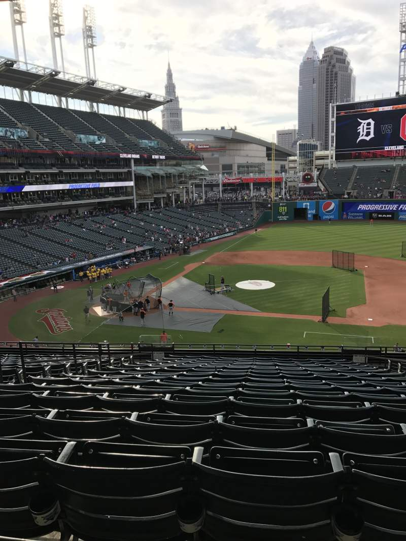 Seating view for Progressive Field Section 344 Row R Seat 5