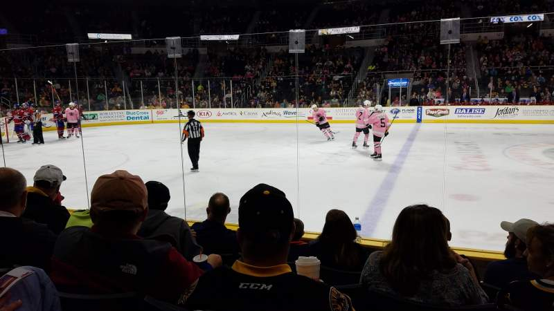 Dunkin' Donuts Center, section: 109, row: Hh, seat: 3