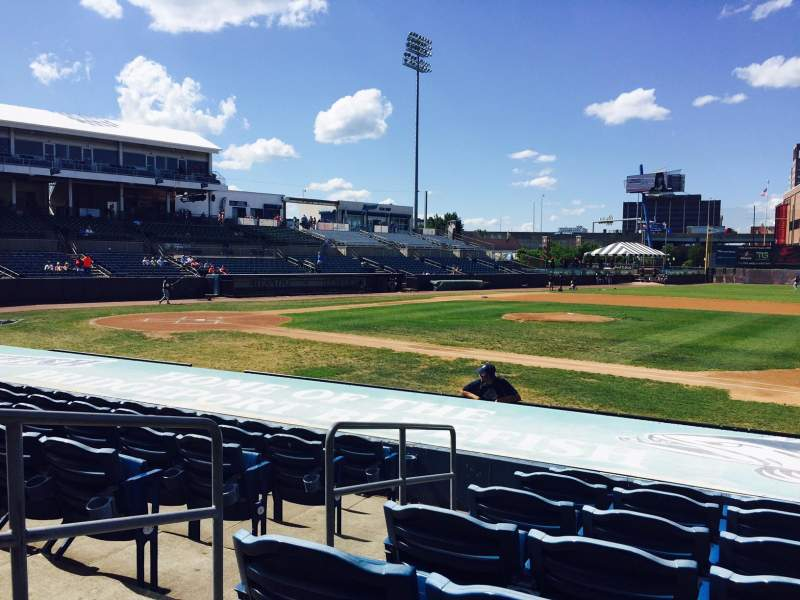 The Ballpark At Harbor Yard Section 13 Row I Seat 1 Bridgeport Bluefish Shared Anonymously