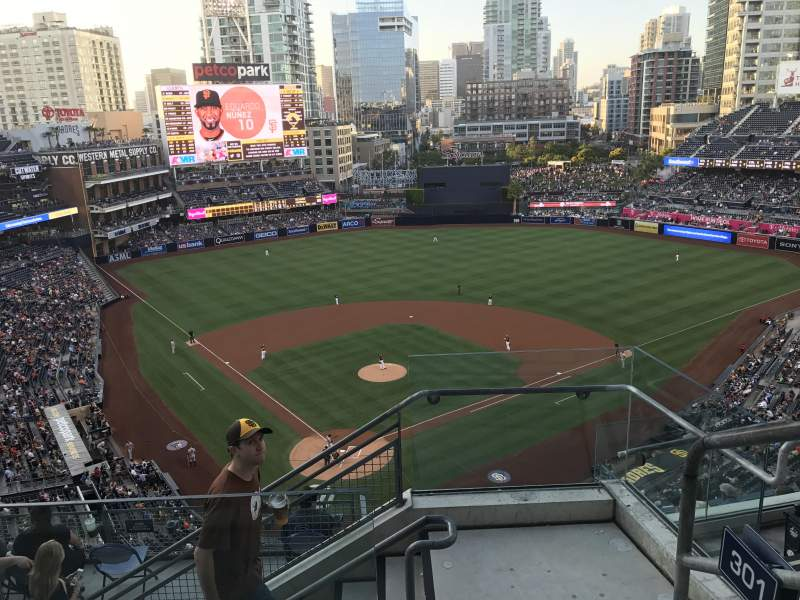 Seating view for PETCO Park Section 301 Row 11 Seat 20