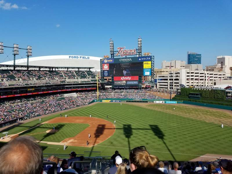 Seating view for Comerica Park Section 117 Row 15 Seat 23