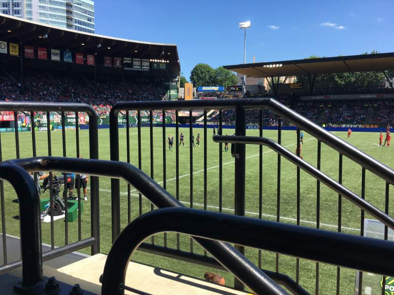 Seating view for Providence Park Section 119 Row A Seat 1-2