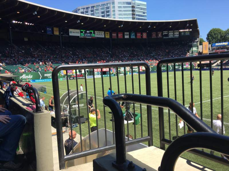 Seating view for Providence Park Section 119 Row A Seat 3