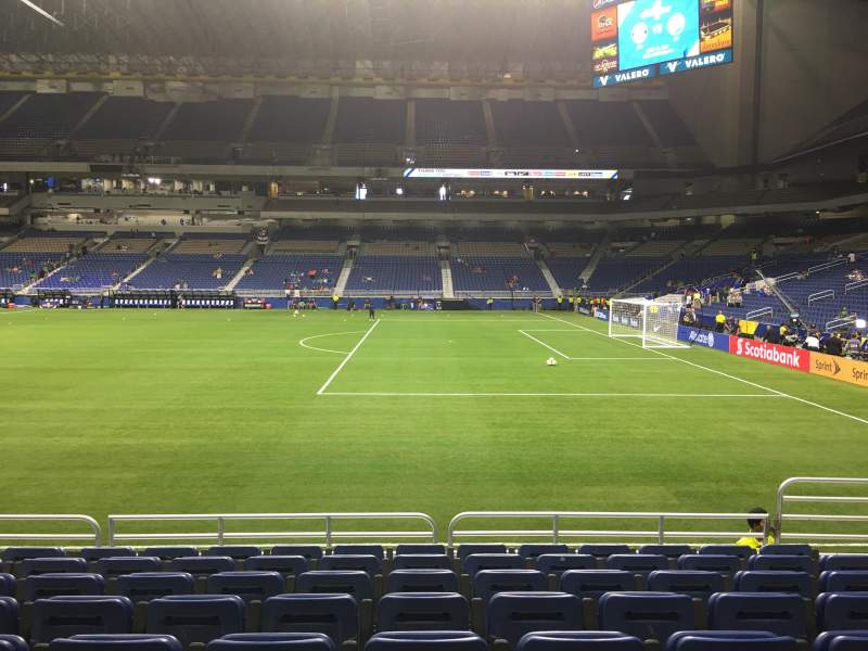 Seating view for Alamodome Section 131 Row 8 Seat 5