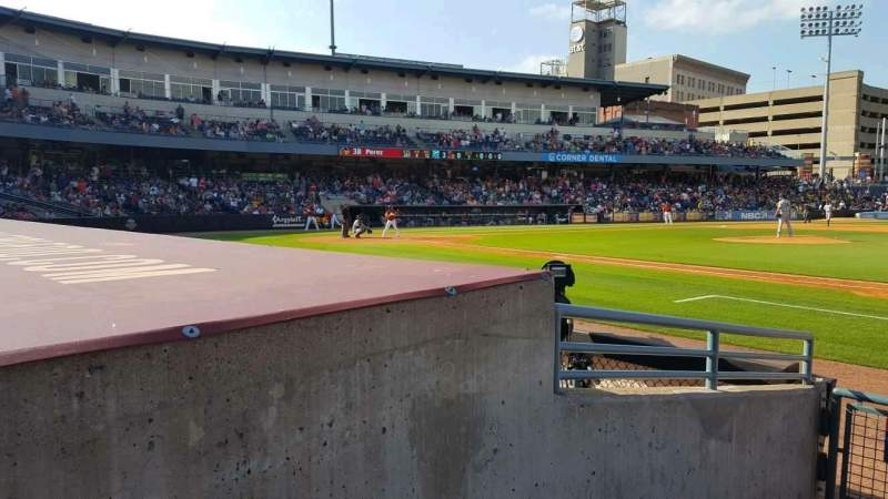 Seating view for Fifth Third Field Section 116 Row E Seat 20