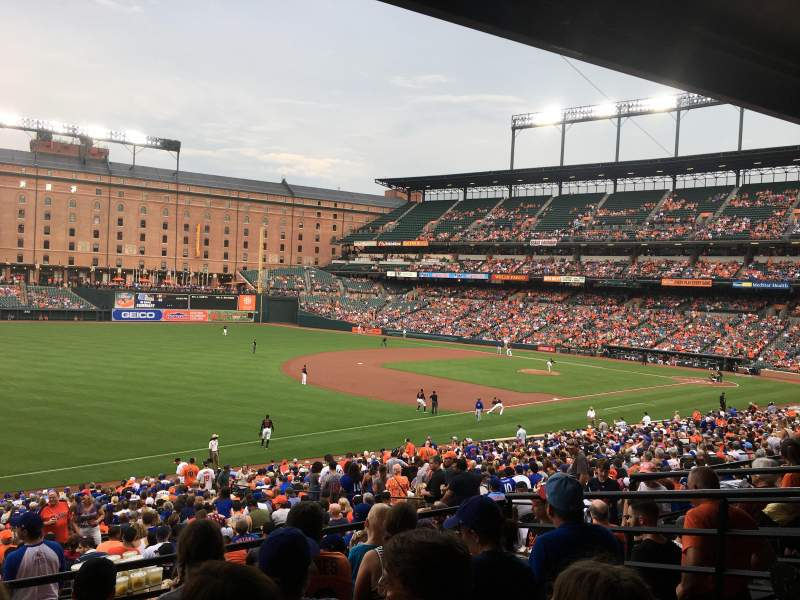 Seating view for Oriole Park at Camden Yards Section 65 Row 5 Seat 9