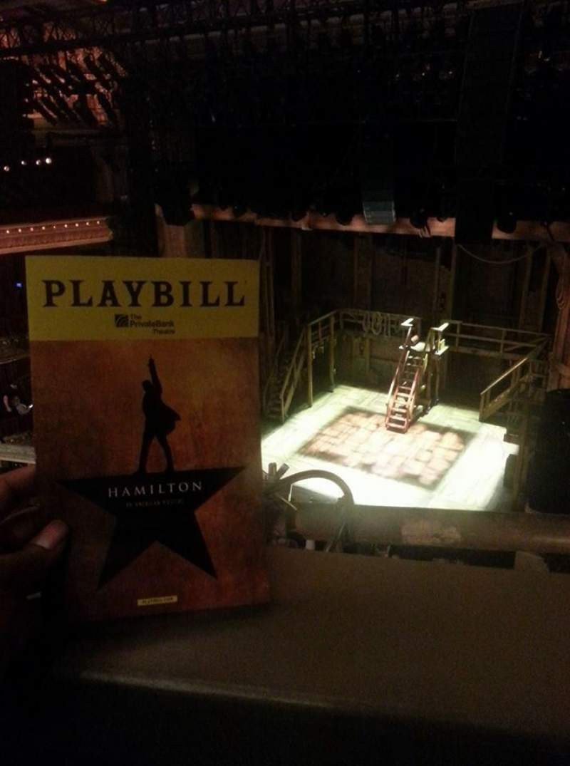Seating view for PrivateBank Theatre Section balcony r Row A Seat 4