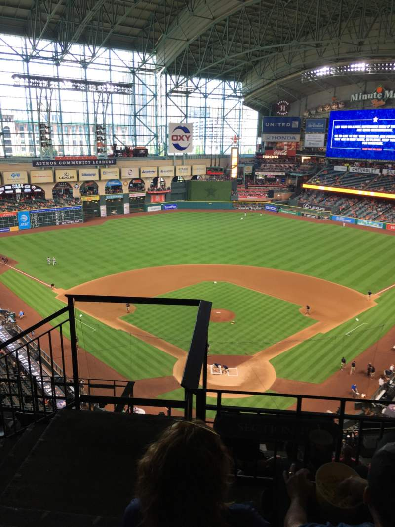 Seating view for Minute Maid Park Section 419 Row 3 Seat 1