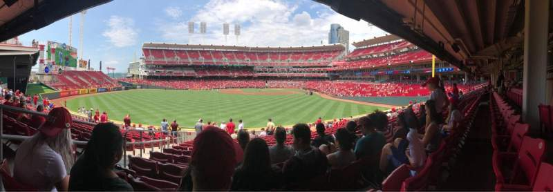 Seating view for Great American Ball Park Section 103 Row N Seat 23