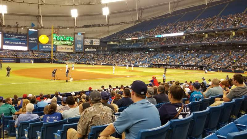 Seating view for Tropicana Field Section 125 Row P Seat 10