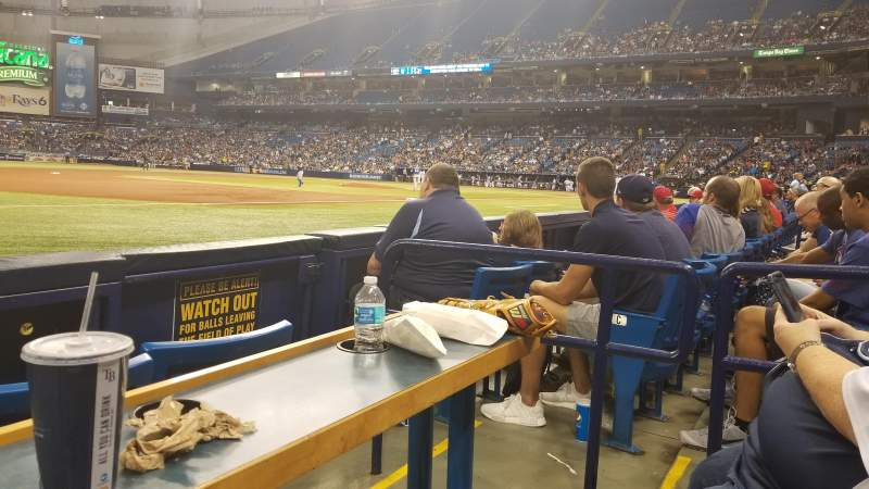 Tropicana Field, section: 125, row: D, seat: 7