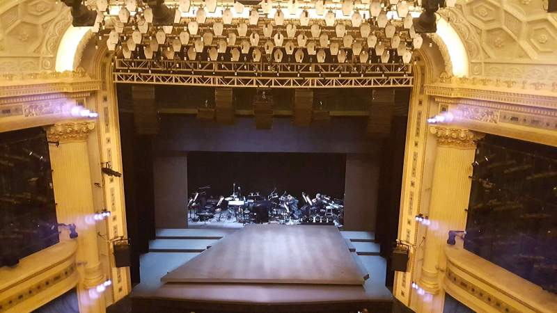 Seating view for Hudson Theatre Section balcc Row c Seat 109