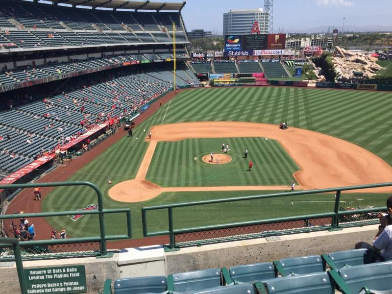 Seating view for Angel Stadium Section V424 Row D Seat 1